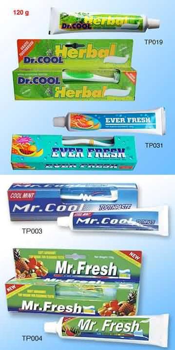 Aneka macam rasa pasta gigi.