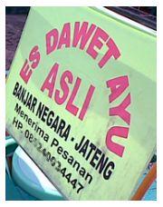 Spanduk penjual dawet ayu Banjarnegara.