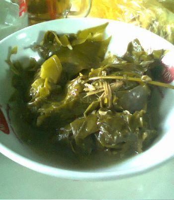 Untingan so untuk penambah selera pada hidangan soto so.