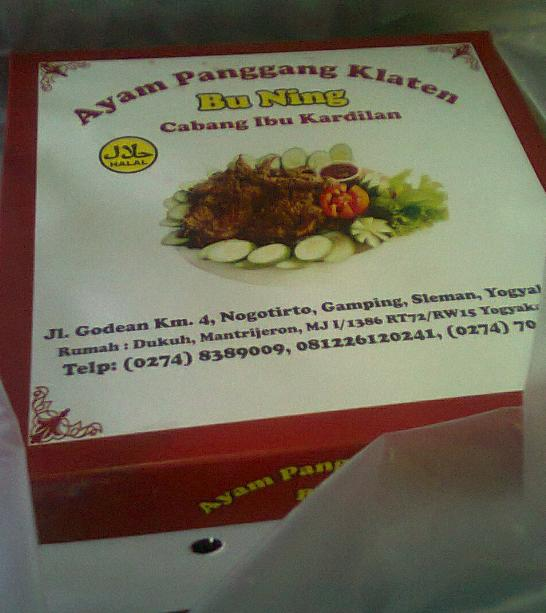 Kotak ayam panggang Klaten